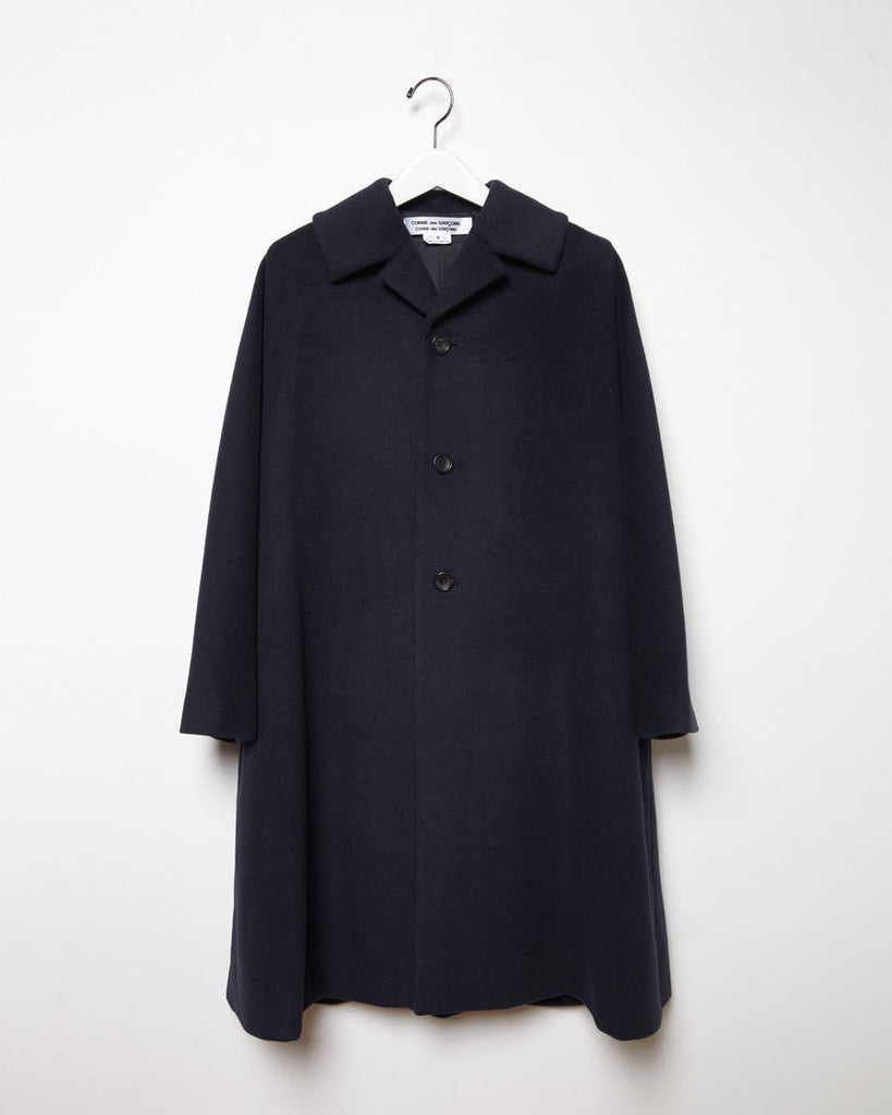 Notched Collar Wool Coat