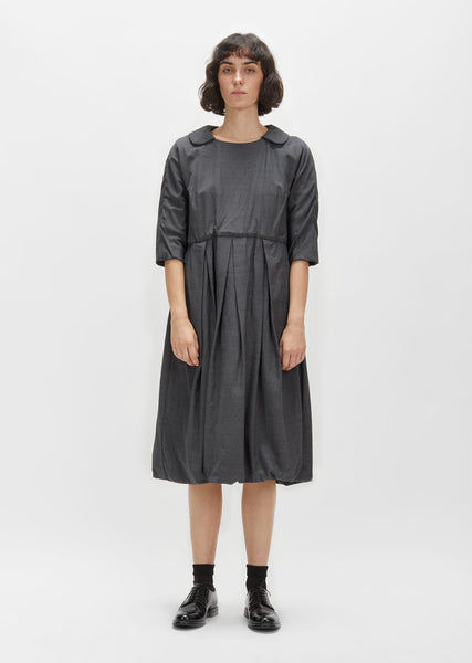 Wool Shadow Herringbone Dress