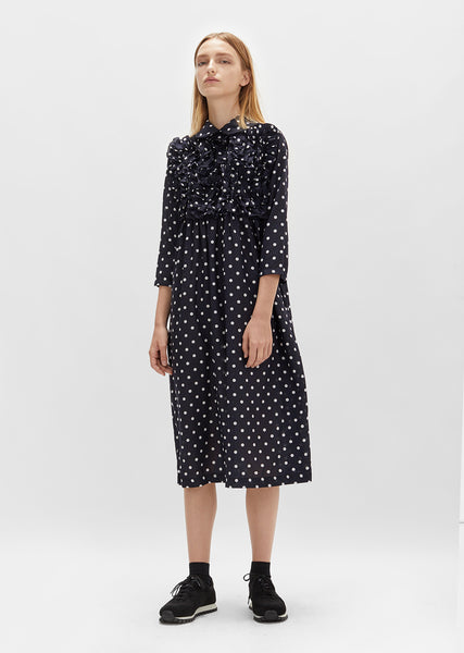 Polyester Broad Dot Print Dress