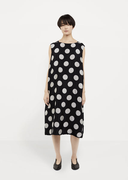 Polka-Dot Print Dress