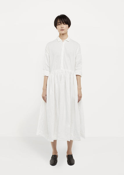 Gathered Waist Shirtdress