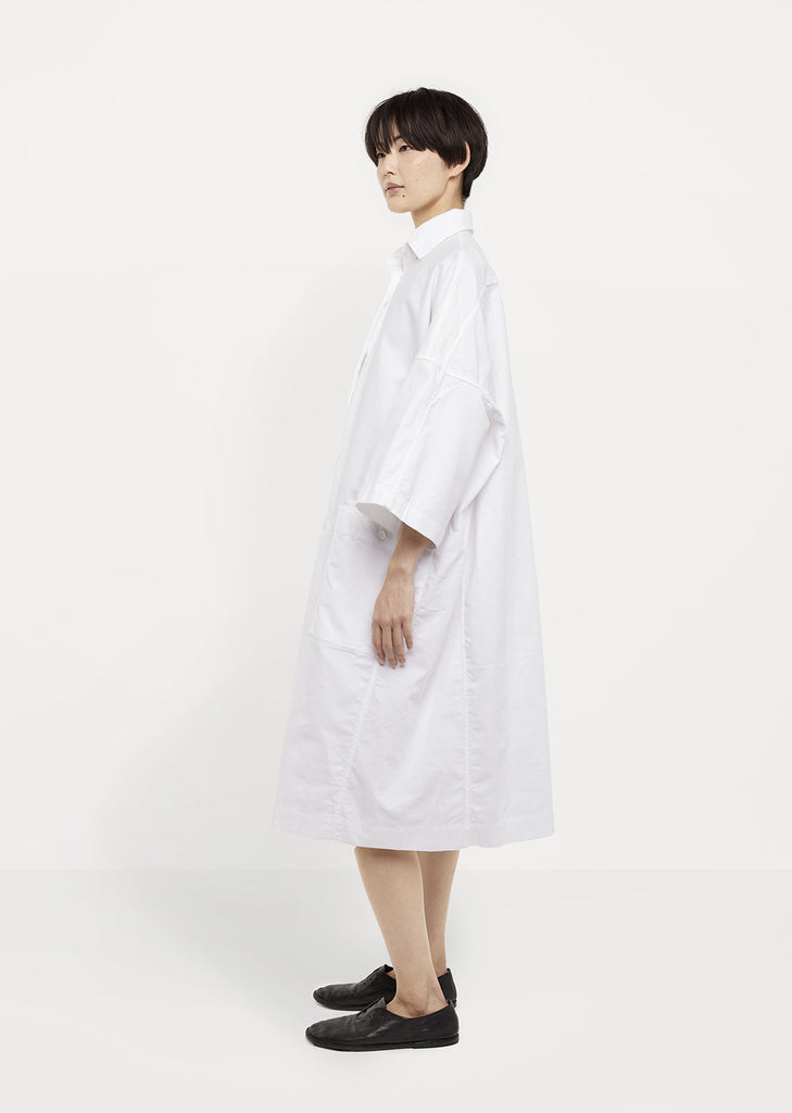Textured Cotton Shirtdress