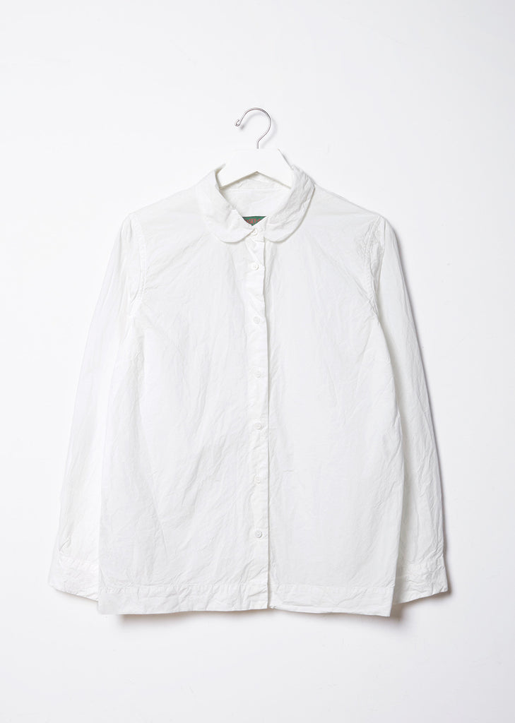 Rounded-Collar Cotton Shirt