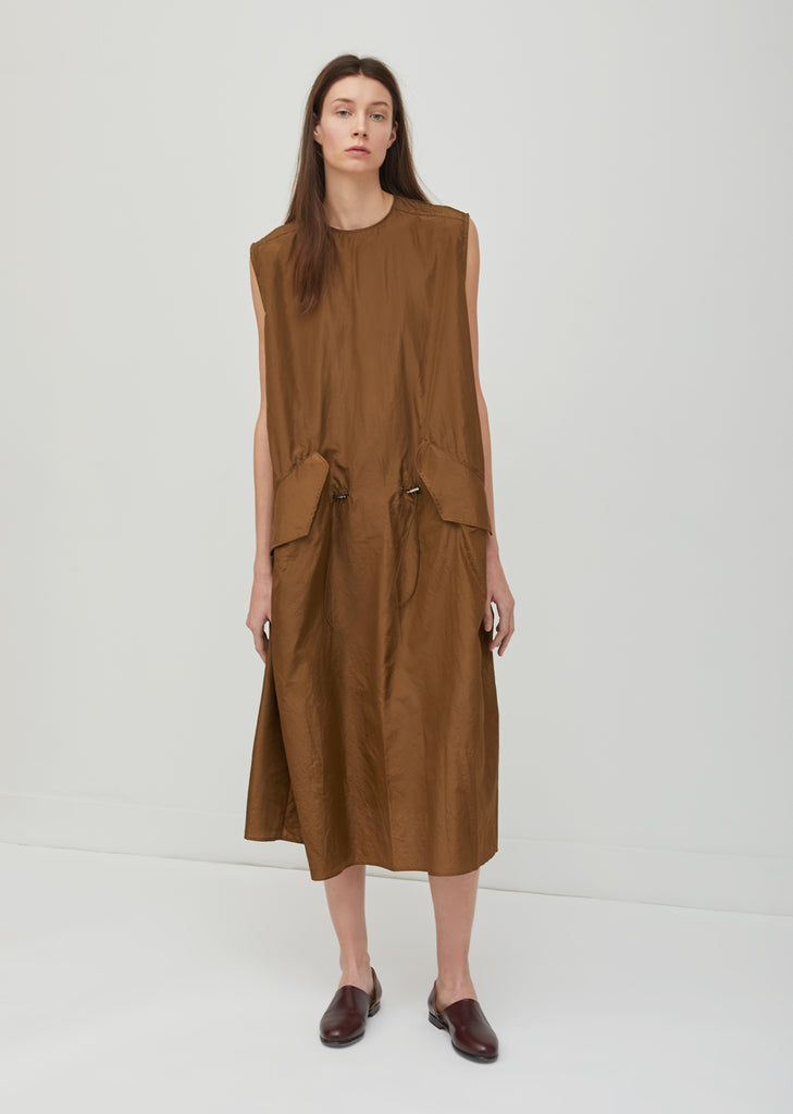 Washed Taffeta Parka Dress