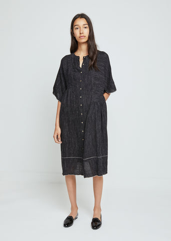 Striped Wool Shirtdress