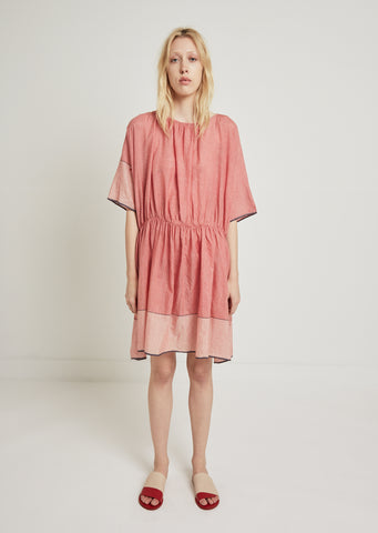 Short Sleeve Check Dress