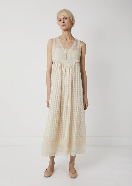 Cotton Silk Sleeveless Dress