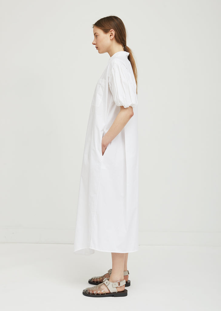 Puff Sleeve Shirt Dress