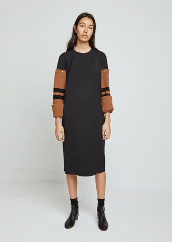 Removable Wool Sleeve Dress
