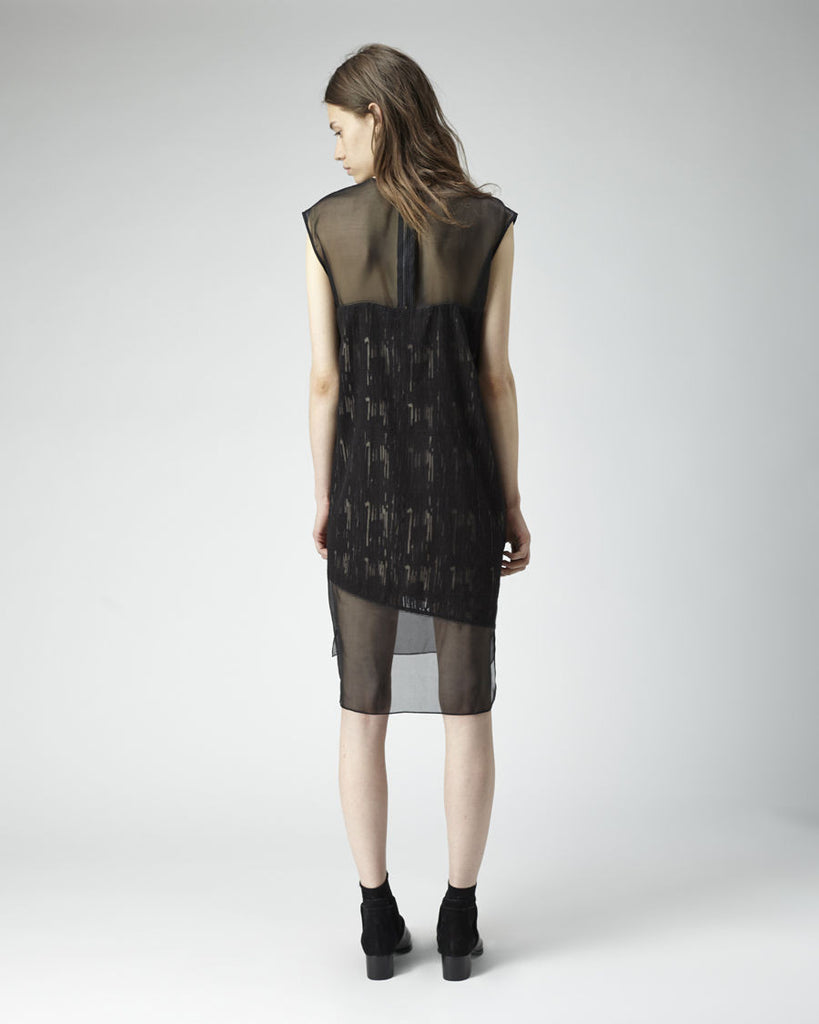 Sheer Trim Dress