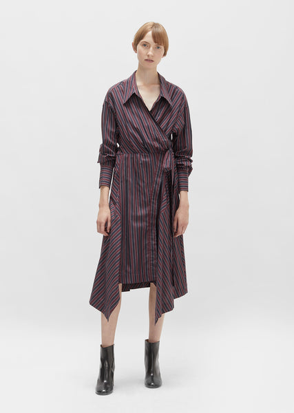 Mila Cotton Asymmetrical Wrap Dress