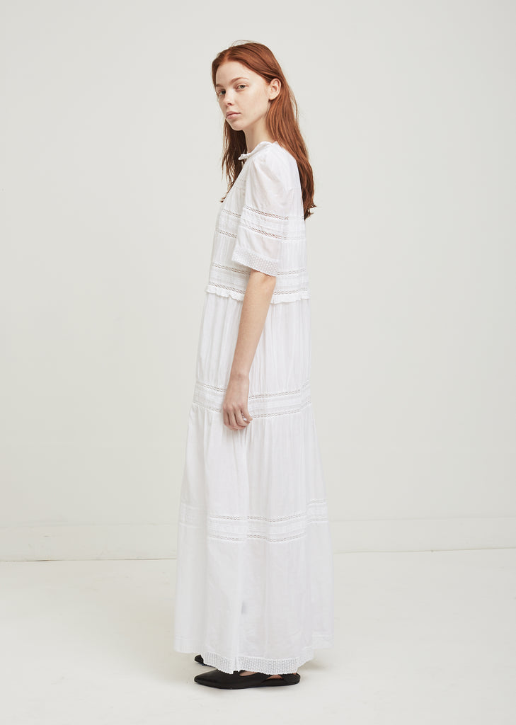 Vealy Lace Cotton Dress