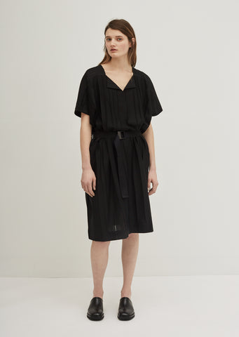 Parallel Jersey Wrap Dress