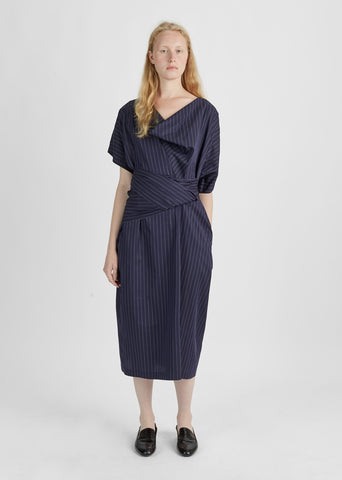 Dilly Pinstripe Cotton Dress