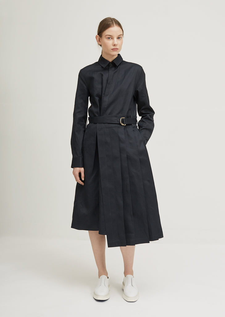 Emulation Belted Dress