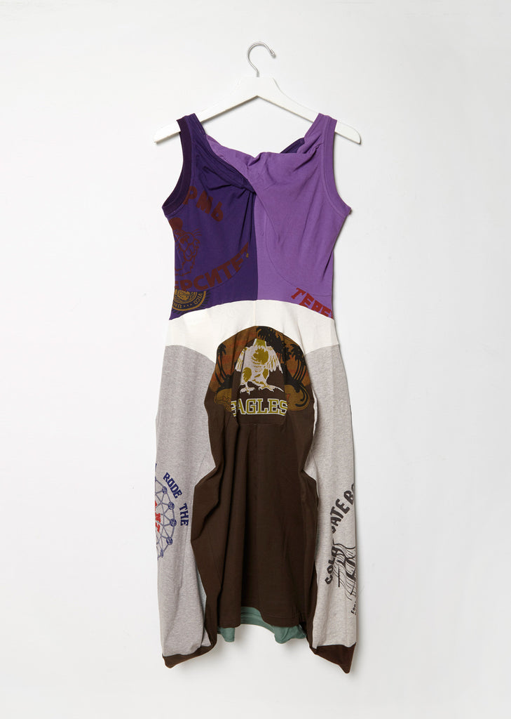 Mixed-Media Tank Dress