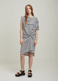 Cotton Jersey Horizontal Stripe Dress