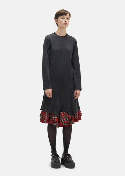 Wool Tartan Check Dress