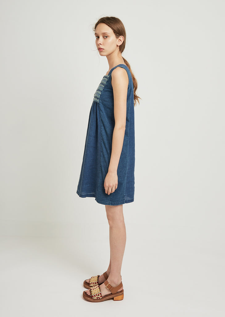 French Cloth Linen Kirifu Dress