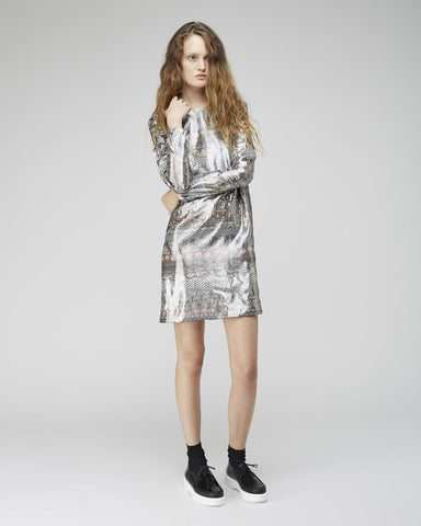 Ribbons Jacquard Dress