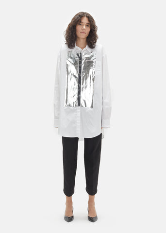 Shiny Silver Transfer Cotton Tunic