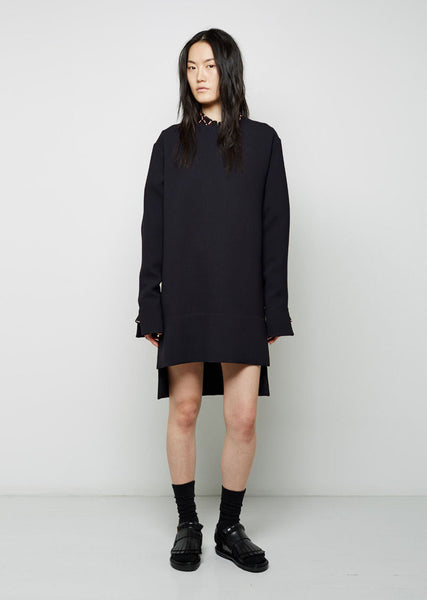 Marni Double Face Crepe Dress La Garconne