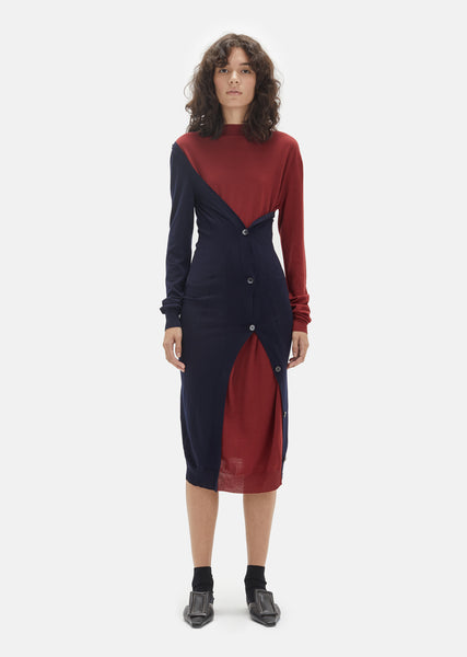 Intarsio Virgin Wool Dress