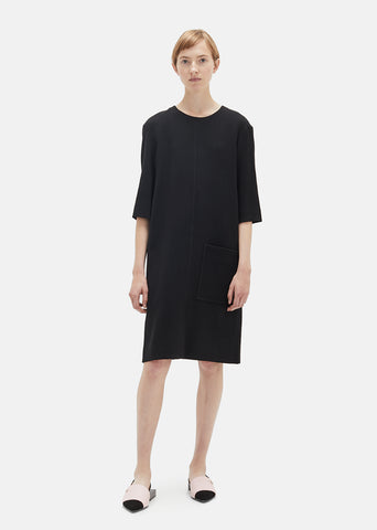 Cotton Viscose Crepe Dress