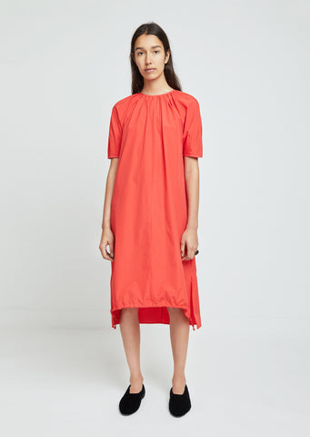 Cotton Poplin Short Sleeve Dress