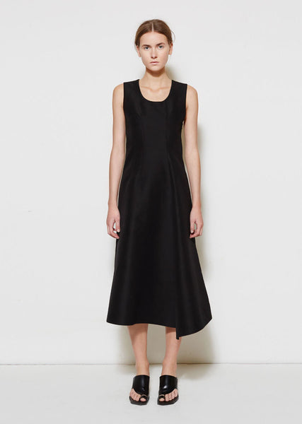 Marni Scoopneck Cotton Cady Dress La Garconne