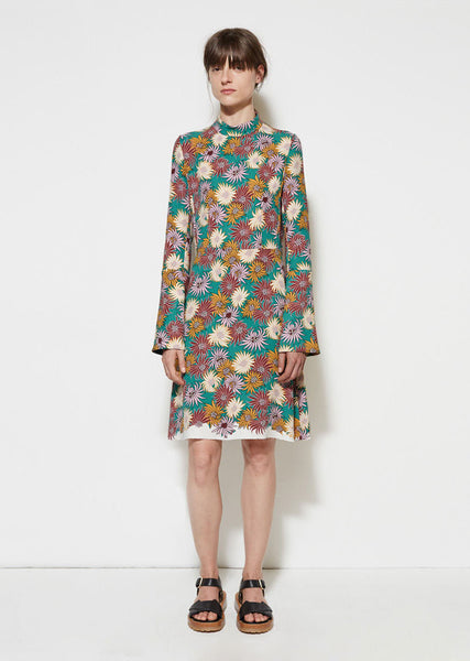 Marni Floral Georgette Dress La Garconne