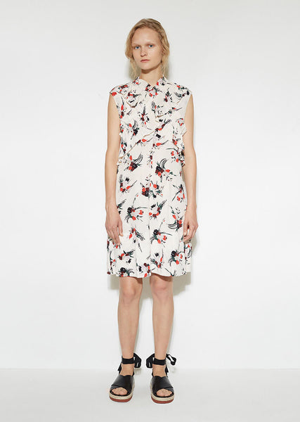 Marni Crossed Ruffle Dress La Garconne