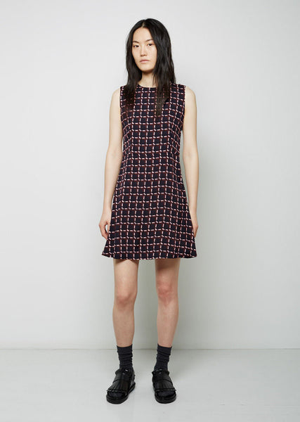 Marni Sable St. Windowpane Dress La Garconne