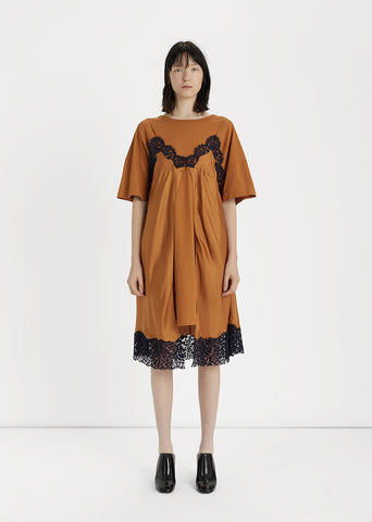 Silk Slip & T-Shirt Dress