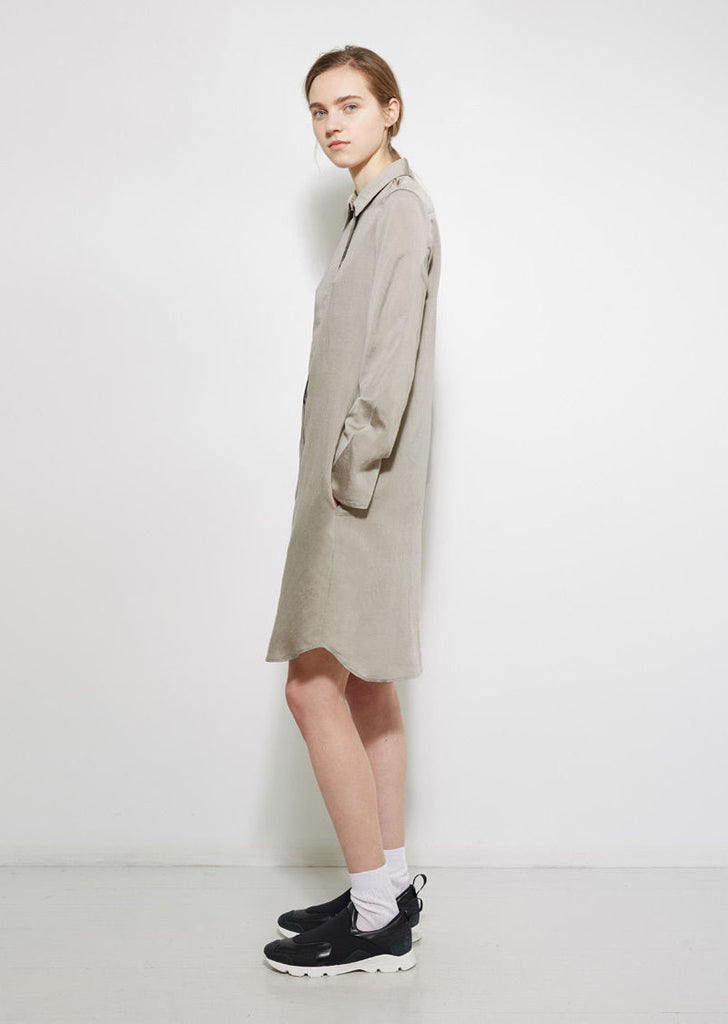 Slit Shoulder Shirtdress