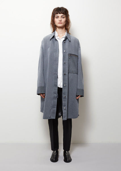 MM6 Maison Margiela Stone Washed Denim Jacket La Garconne