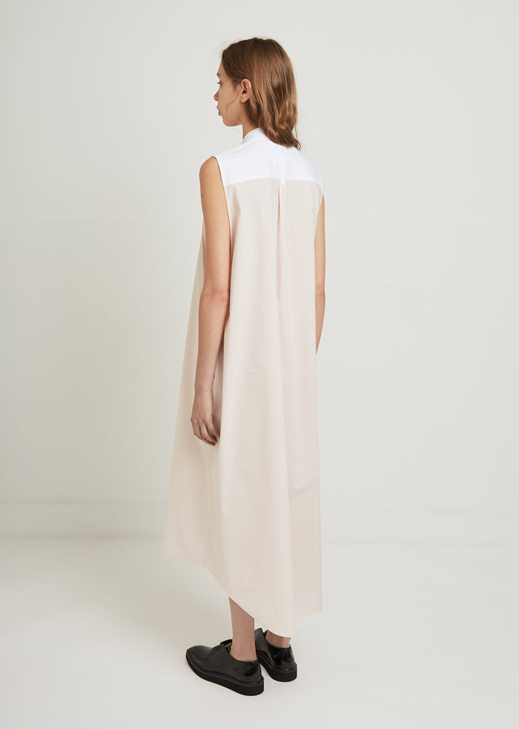 Parachute Poplin Long Dress