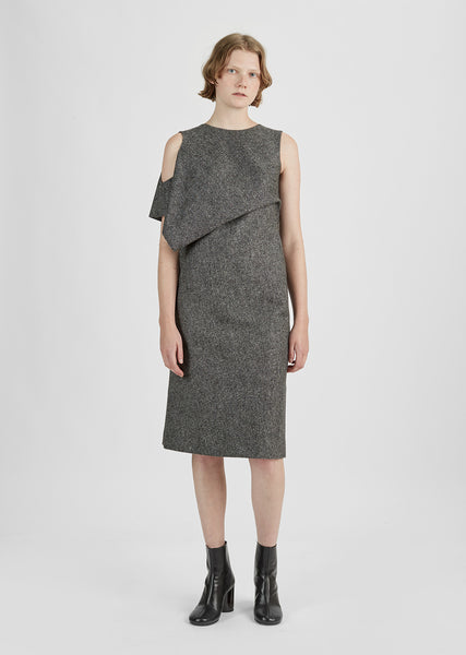 Wool Tweed Sleeveless Dress