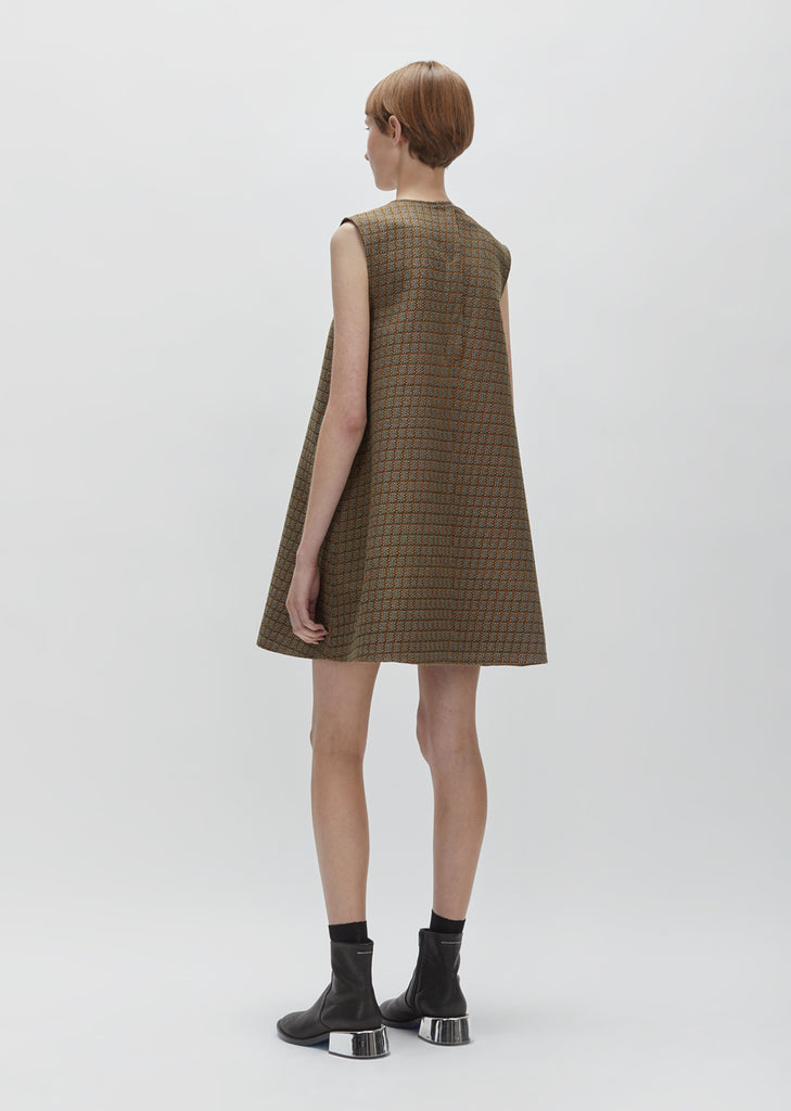 70's Suiting Jacquard Dress