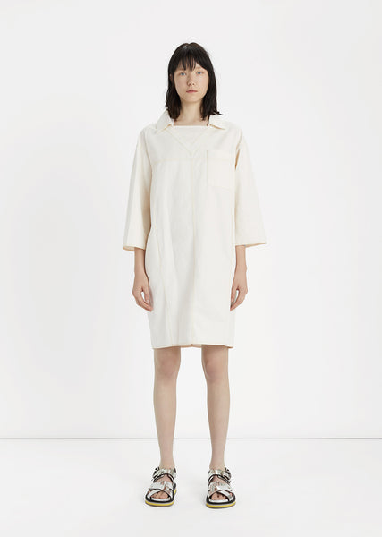 Cotton & Linen Blend Smock Dress