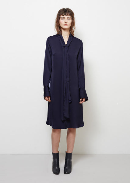 Maison Margiela Silk Tie-Neck Dress La Garconne