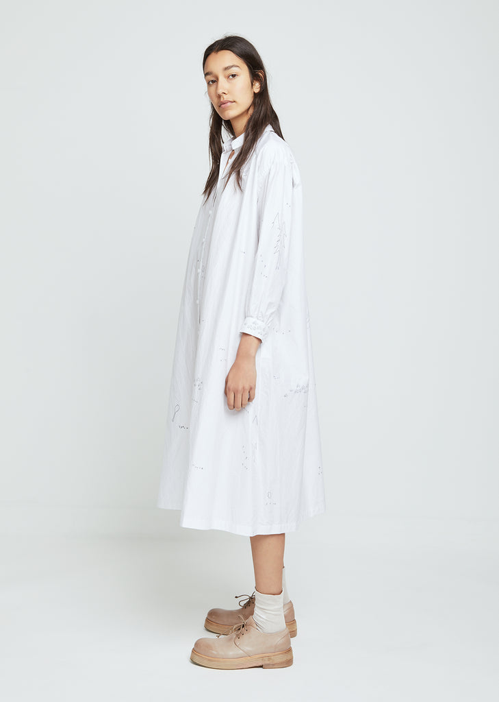 Whisper Cotton Silk Shirtdress