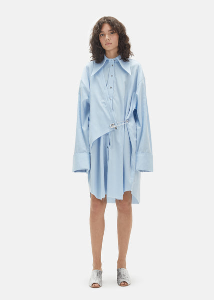 Cotton Double Front Oversized Shirt