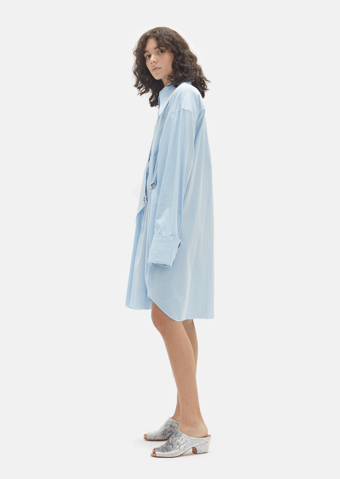 Cotton Double Front Shirt Dress
