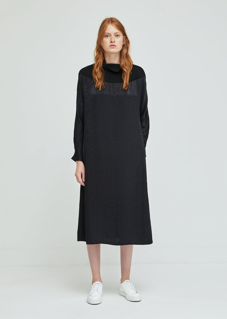 High Boat Neck Dress