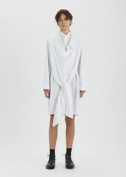 Double Front Cotton Shirt Dress