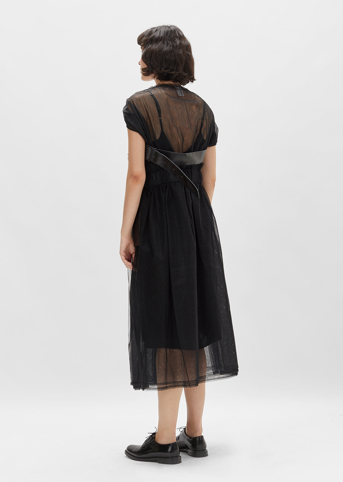 Tulle Dress With Frill