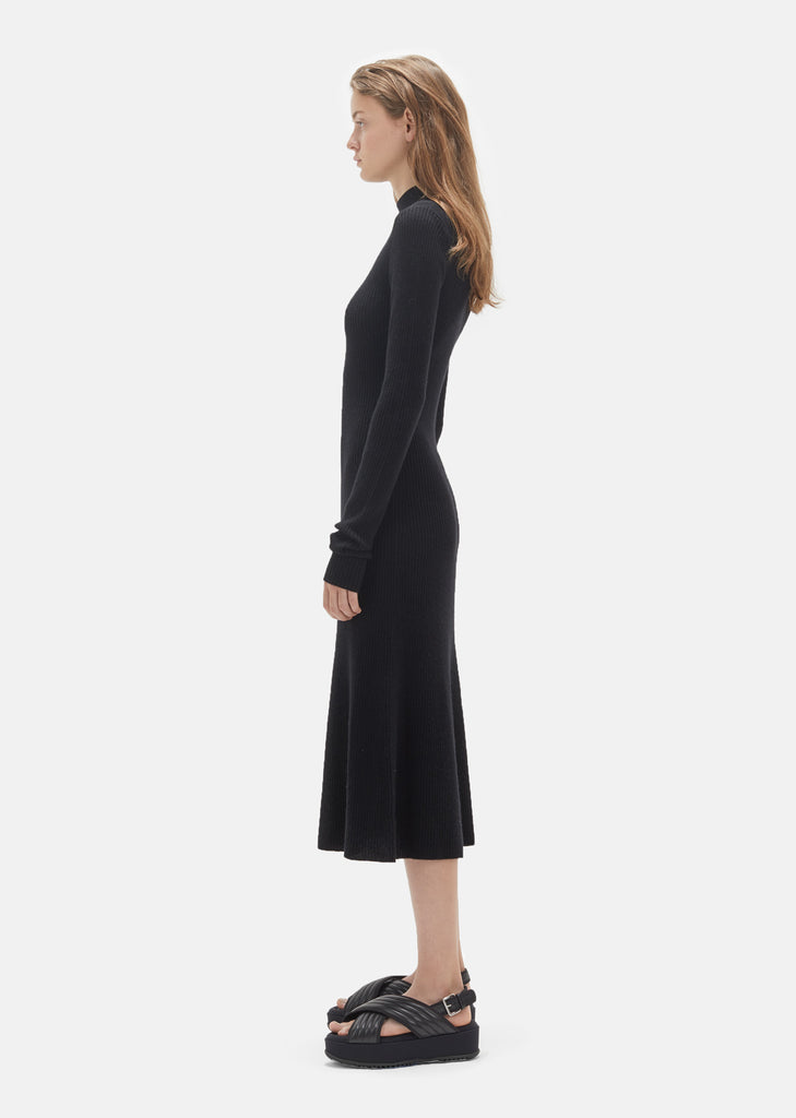 Mock Neck Rib Dress