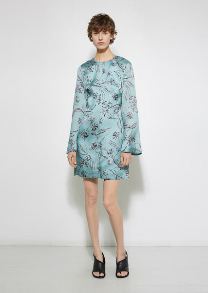 3.1 Phillip Lim Floral Bell Sleeve Dress La Garconne