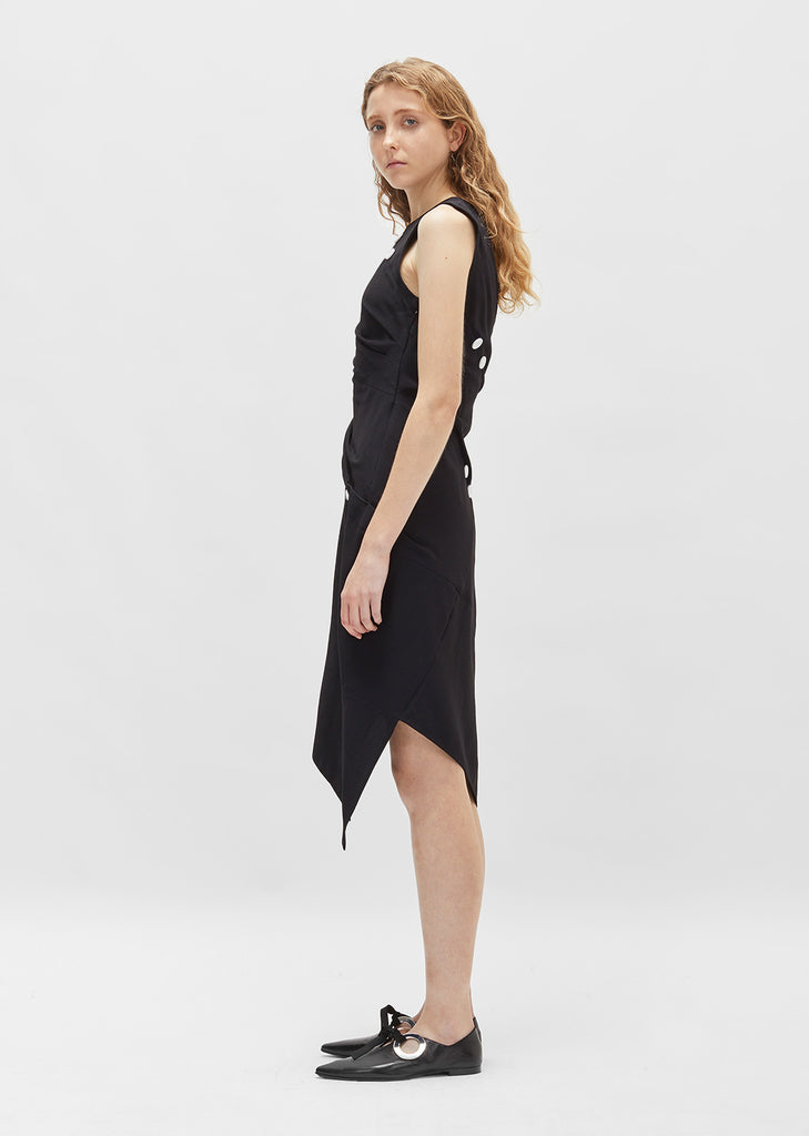 Satin Sable Asymmetrical Dress